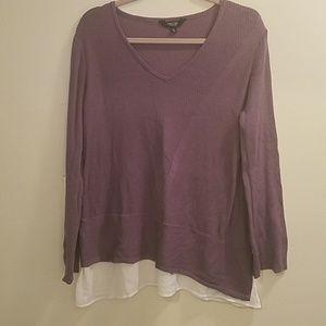 Simply vera v neck purple sweater
